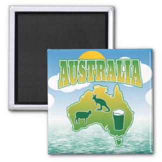 Aimant L'Australie - kangourous et bière de moutons