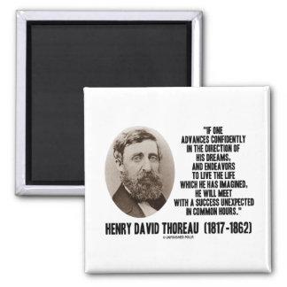 Aimant L'avance de Henry David Thoreau rêve avec