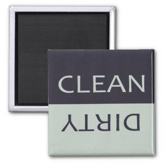Aimant Lave-vaisselle noir et gris sale propre élégant