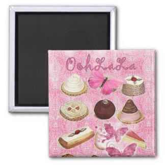 Aimant Le bonbon traite la pâtisserie française de