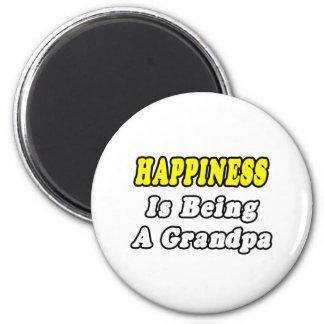 Aimant Le bonheur est un grand-papa