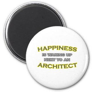 Aimant Le bonheur se réveille à côté d'un architecte