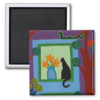 Aimant Le chat du croissant oblique 2008