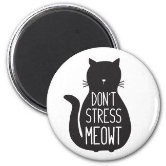 Aimant Le chat noir drôle ne soumettent pas à une