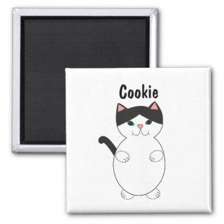 Aimant Le chat noir et blanc de Kitty mignon