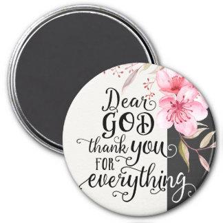 """Aimant Le cher Merci de Dieu pour tout 3"""" arrondissent"""
