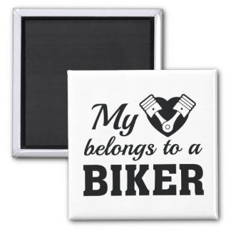 Aimant Le coeur appartient cycliste
