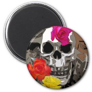 Aimant Le crâne et les roses aiment la magie