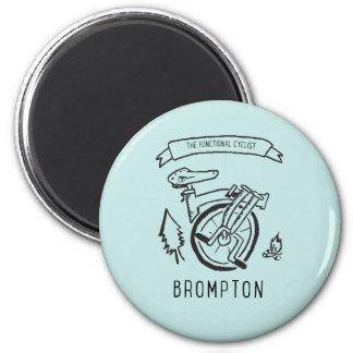 Aimant Le cycliste fonctionnel - vélo se pliant Brompton