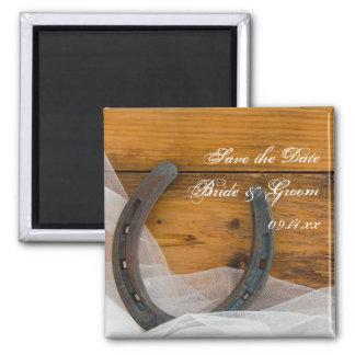 Aimant Le fer à cheval et le mariage campagnard de voile