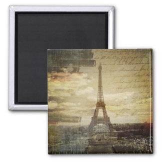 Aimant Le Français scripts Tour Eiffel vintage moderne de