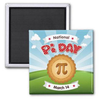 Aimant Le jour de pi, célèbrent des maths, mangent le