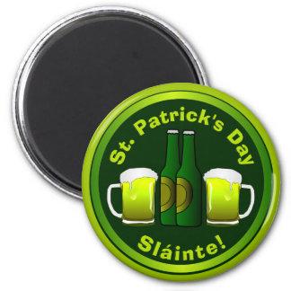 Aimant Le jour Sláinte de St Patrick d'amusement