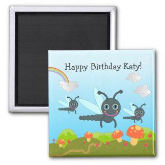 Aimant Le joyeux anniversaire indique la libellule