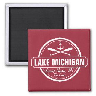 Aimant Le lac Michigan, ville faite sur commande, nom,