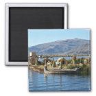Aimant Le Lac Titicaca - île de flottement