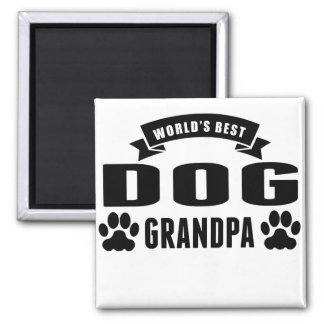 Aimant Le meilleur grand-papa du chien du monde