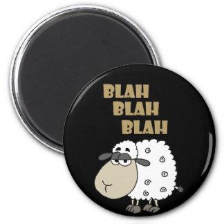 Aimant Le mouton cynique drôle indique Blah - fade