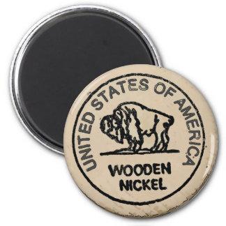 Aimant Le nickel en bois de Buffalo, vous ajoutent nommés