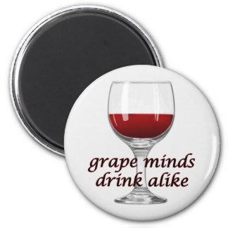 Aimant Le raisin drôle s'occupe de l'aimant de vin