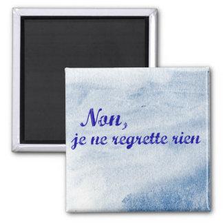 """Aimant Le regrette français de Ne de je d'expression """"non"""