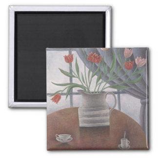 Aimant Le rideau en tulipes met en forme de tasse 2002