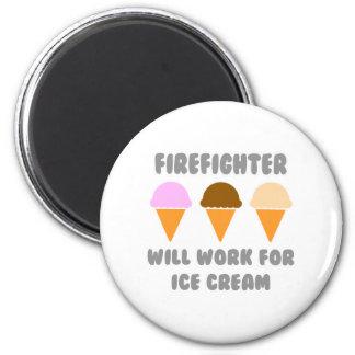 Aimant Le sapeur-pompier… travaillera pour la crème