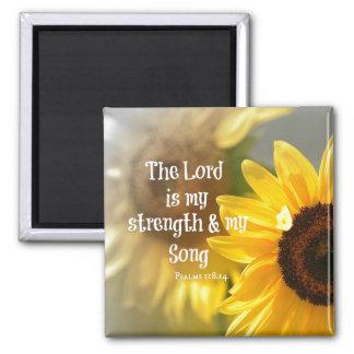 Aimant Le seigneur est mon vers de bible de force et de