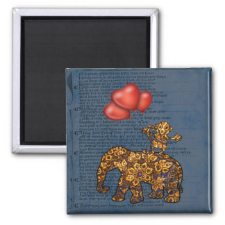 Aimant Le singe sur des éléphants soutiennent des ballons