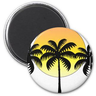 Aimant le soleil de palmier