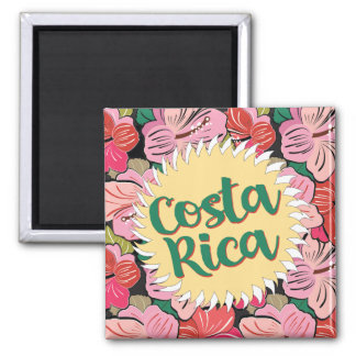 Aimant Le soleil du Costa Rica avec la ketmie