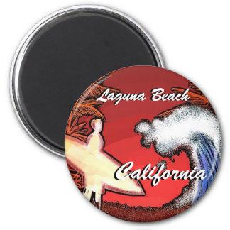 Aimant Le surfer de la Californie de Laguna Beach ondule
