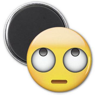 Aimant Le visage avec le roulement observe Emoji