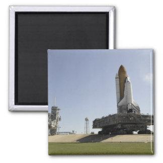 Aimant L'effort de navette spatiale approche le lancement