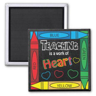 Aimant L'enseignement est un travail de carré de coeur