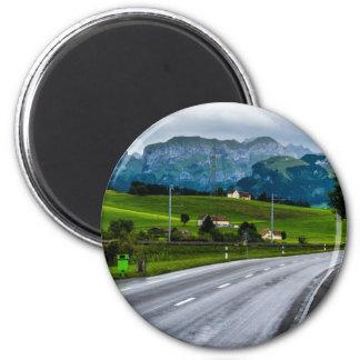 Aimant Les Alpes d'Appenzell pendant une pluie donnent