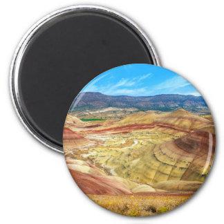 Aimant Les collines peintes colorées en Orégon oriental