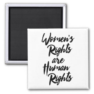 Aimant Les droits de la femme sont des droits de l'homme