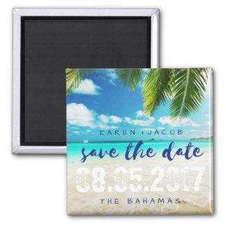 Aimant Les économies de mariage de plage des Bahamas les