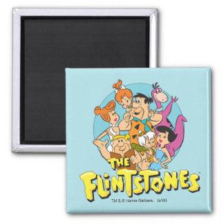 Aimant Les Flintstones et le graphique de famille de