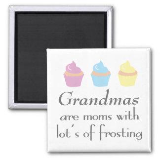 Aimant Les grand-mamans sont des mamans avec un bon