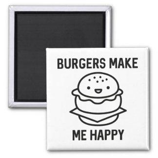 Aimant Les hamburgers me rendent heureux