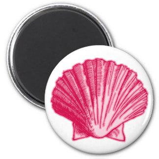 Aimant Les ketmies tropicales rougissent mer rose Shell