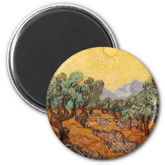 Aimant Les oliviers de Vincent Van Gogh (Olives trees)