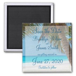 Aimant Les palmiers sur le mariage de plage sauvent