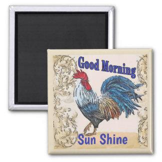 Aimant Les poules bleues, bonjour, éditent le texte