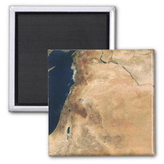 Aimant Les terres de l'Israël le long du rivage oriental