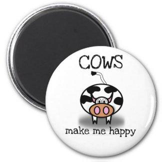 Aimant Les vaches me rendent heureux