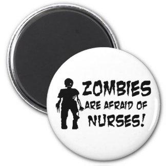 Aimant Les zombis ont peur des infirmières