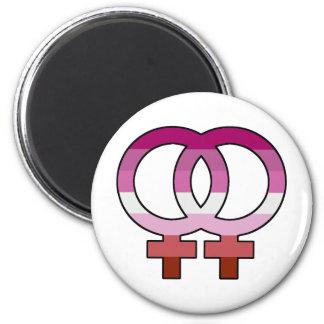 Aimant lesbien de symbole de Vénus de drapeau de